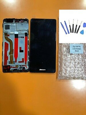 DISPLAY LCD+TOUCH COMPLETO con FRAME HUAWEI P9 EVA-L09 BLACK