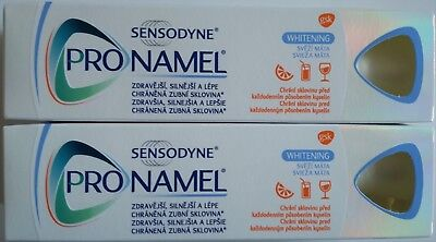 Pack of 2x75ml Sensodyne ProNamel Whitening Toothpaste Protect & Restore Enamel