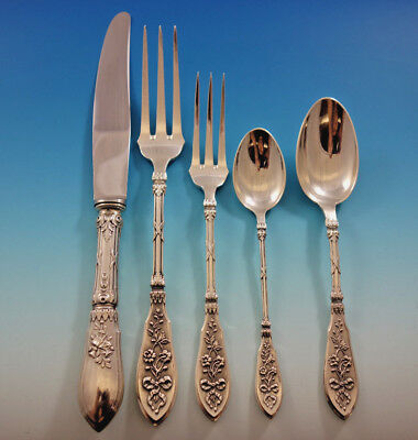 Grand Cru by Henin Cie Sterling Silver Flatware Set for 12 Service French Dinner