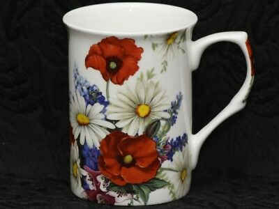 STECHCOL MEADOW FLOWERS Bone China Cylinder Mug