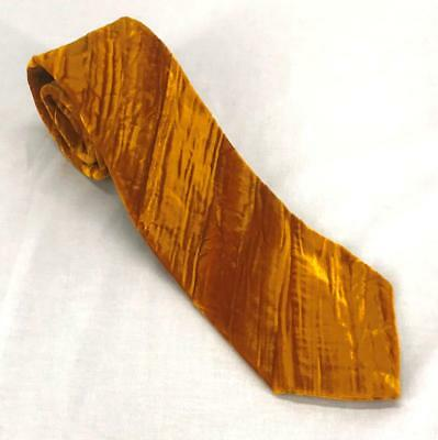 Vintage Walker's Gold Velvet Wide Men's Neck Tie Costume