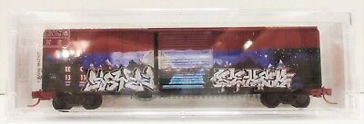 N Scale Micro Trains 025 44 006 EEC1311 East Erie Commercial 50' Boxcar Graffiti