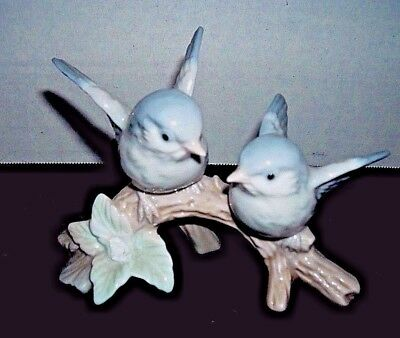 Sweet Blue Birds Figurine Porcelain