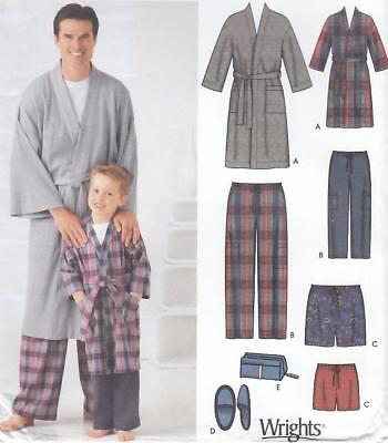 Simplicity 5329 - size Small-XLge  MENS/Boys SLEEPWEAR -pants, shorts, robe +