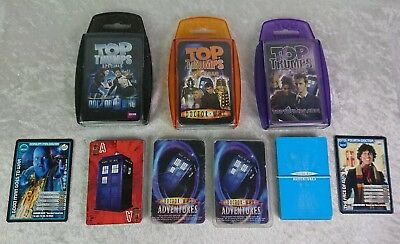 Doctor Who Top Trumps And Playing Cards Bundle / Dr Who Adventures Trading Cards