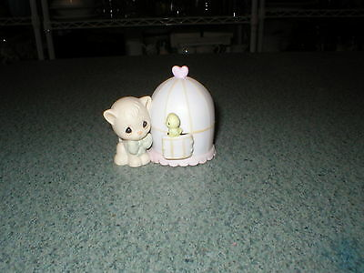 Precious Moments 1990 Can't Be Without You Cat/Kitten+Bird #524492 No Box