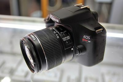 MINT Canon EOS Rebel T6 DSLR Camera with 18-55mm II Lens + 75-300mm. (3 LENSES)