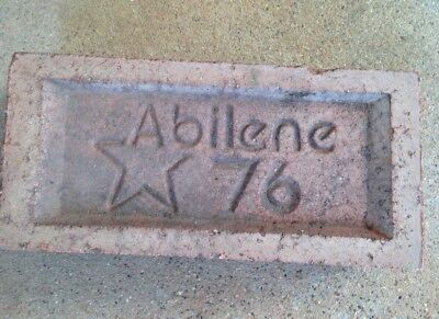 Brick Red Clay Rare Vintage Texas Antique Abilene 76 Star Commemorative