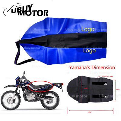 Soft PU Leather Seat Cover For Yamaha TTR250 XT 225 250 250cc TW200 TW225 Blue