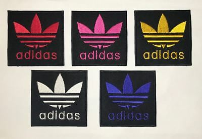 Adidas Logo Sports Embroidered Badge Iron On / Sew On Clothes Jacket Jeans