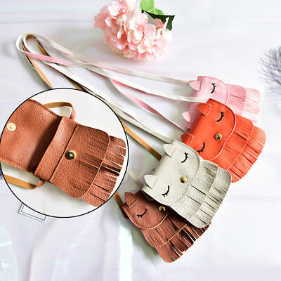 1x Cute Baby Girls tassel Purse handbag Children Kids Cross-body shoulder bag、AU
