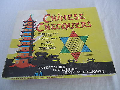 CHINESE CHECQUERS Retro 1960's/1970's Spear's Games COMPLETE INSTRUCTIONS #2783