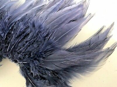20 Navy Blue Rooster Feathers 12-16cm DIY Art Craft Millinery Dream Catcher