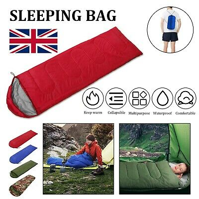 3 Season Sleeping Bag Single Adult Waterproof Camping Hiking Suit Case Envelope