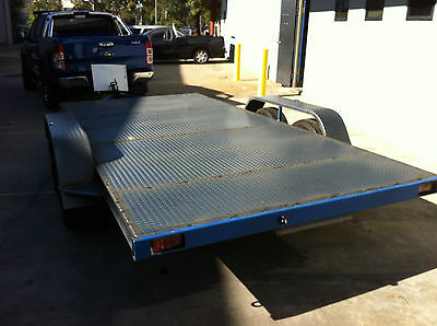 Car Trailer Tandem axle 14X6.6FT 2T USE4 RACE FORD HOLDEN NO RAMPS OR PAINT INCL