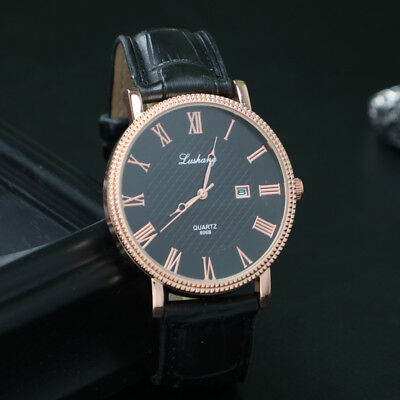 New Casual Mens Wristwatch Business Leather Strap Waterproof Quartz Male Watches