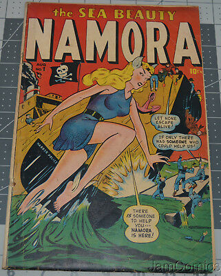 Namora #1 the Sea Beauty Sub-Mariner Bill Everett NICE TIMELY GOLDEN AGE COMIC