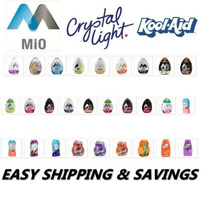 Mio Koolaid Crystal Light Tang Crush Water Enhancers Pack Of 2 Easy Shipping