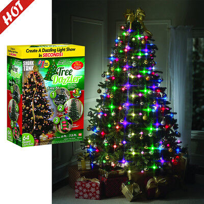 Colorful LED Light Christmas Tree Fiber Optical Night Bulb Lamp Xmas Decor DA