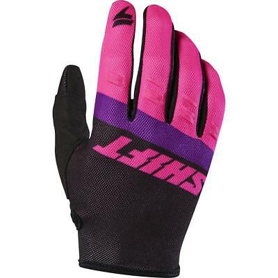 NEW Shift 2017 WHIT3 Air Tarmac Black/Pink Gloves from Moto Heaven