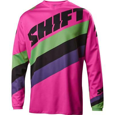 NEW Shift 2017 WHIT3 Tarmac Black/Pink Jersey from Moto Heaven
