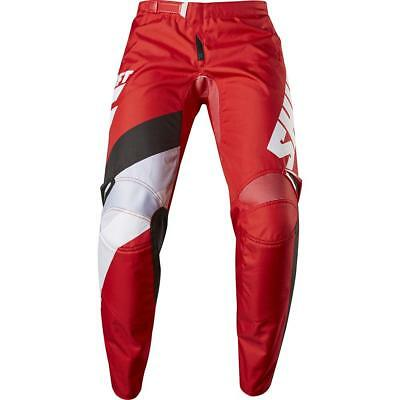 NEW Shift 2017 WHIT3 Tarmac Red Pants from Moto Heaven