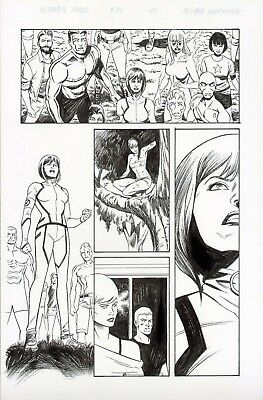 X-Men #30 Kitty Pryde, Rogue, & Colossus Original Comic Art Page Ultimate Marvel