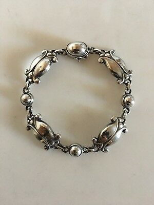 Georg Jensen Bracelet No 11 in 830 Silver. With French Import Marks