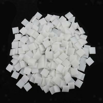 250pcs Square Glass Mosaic Tiles Pieces for DIY Art Craft 10x10mm White