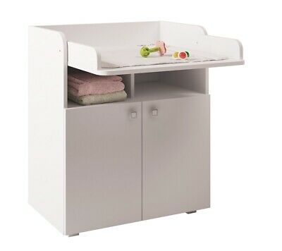 Polini Kids Baby Wickelkommode Wickeltisch Simple 1270 weiß, 1316.9