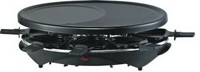 Raclette-Grill Tischgrill Elektrogrill Anthaft-Grillplatte 8 Pers. Partygrill