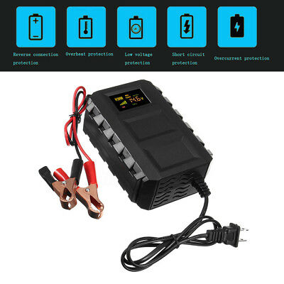 12V Car Motorcycle Battery Charger 20A  Smart Automobile Lead Acid Charger