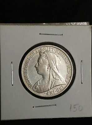 Great Britain UK 1899 Florin Silver Coin Victoria Old
