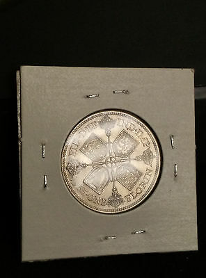 Great Britain UK 1935 Florin Silver Unc Coin George V