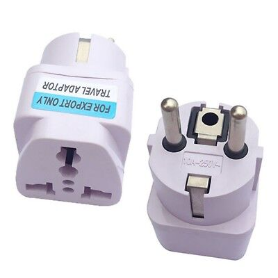 US UK AU To EU Europe Travel Charger Power Adapter Converter Wall Plug Home Kit