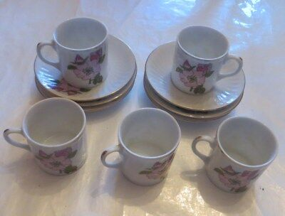 "6 sous tasses et 5 tasses « made in China "" Blumendekor ""  Nr 305»"