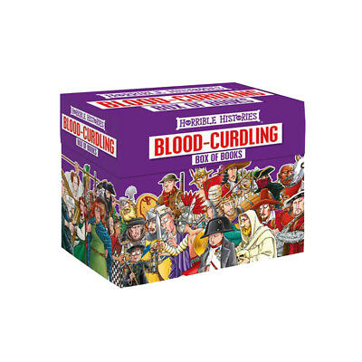 Horrible Histories Blood Curdling Collection 20 Books Box Gift Set Pack NEW