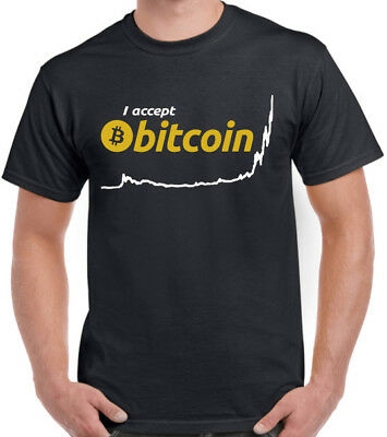 I Accept Bitcoin BTC Year To Date Graph Crypto currency Blockchain Coin T Shirt