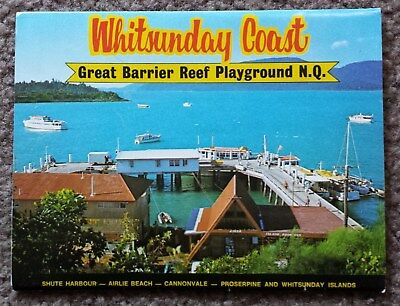 Vintage C1970's Postcard View Folder - Whitsunday Coast Qld - Unused