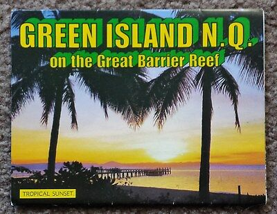 Vintage C1970's Postcard View Folder - Green Island Nth Qld - Unused - Reef