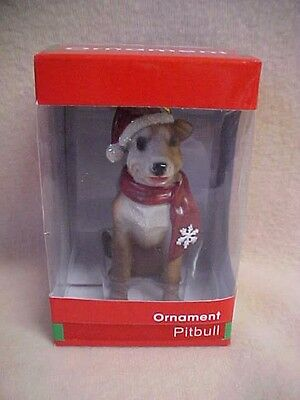 "NIB Little Gifts Dog Christmas Ornament~PITBULL~Approx 4"" high, sealed"