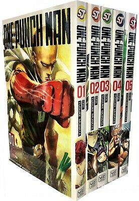 One-Punch Man Volume 1-5 Collection 5 Books Set Paperback New Anime & Manga Nove