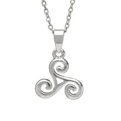 Silver Plated Celtic Spiral Pendant Presented In A Box