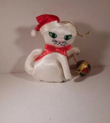 Fancy Feast Christmas 1992 Cat Playing with Ball Ornament