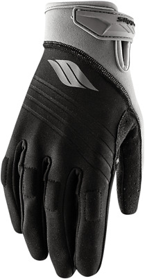 Slippery Black/Silver Jet Ski Watercraft Circuit Gloves
