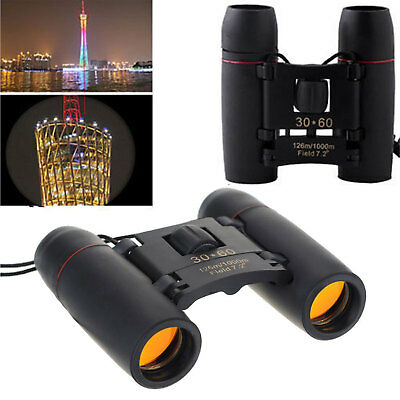 Day Night Vision Binoculars 30x60 Portable Pocket Zoom Folding Telescope