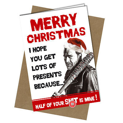 417 christmas card rude greeting card funny humour joke negan 417 christmas card rude greeting card funny humour joke negan walking dead m4hsunfo