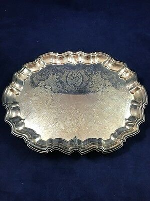 """Vintage Eales 1779 Oval Silverplated Claw Foot Tray 14"""" x 11"""" ships free"""
