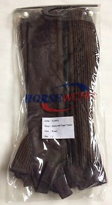 Half Chaps Brown Suede Size Child Large Washable