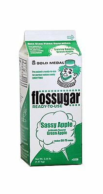 Cotton Candy Floss Sugar Sassy Apple - Net Wt. 3.25lb Green Apple - NEW